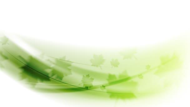 Zelené listy a vlny video animace