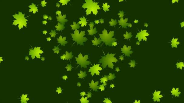 Ekologie na den země, které jsou zelené listy video animace