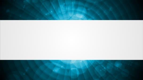 Tmavě modrý lesklý tech video animace