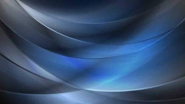 Tmavě modrá pohybující vlny video animace