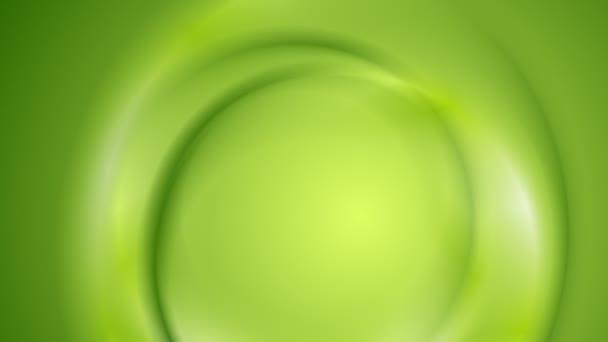 Hladké světlé zelenou vlnovkou video animace
