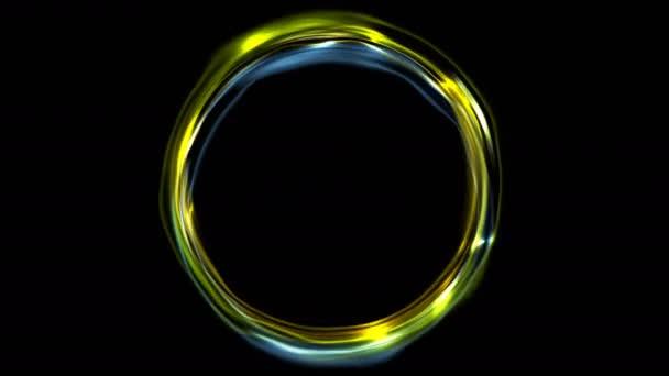 style top hot-vente dernier prix de détail Animation vidéo irisé du fluide anneau de néon électrique