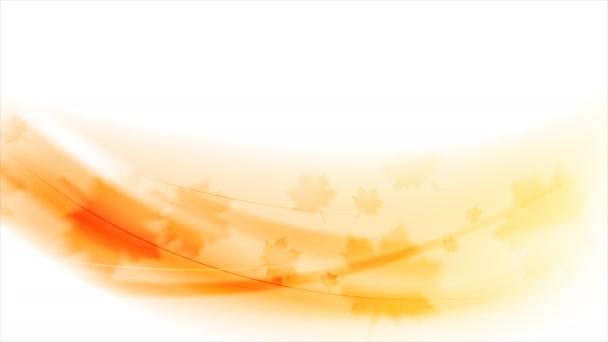 Na podzim listy, oranžové podzimní video animace