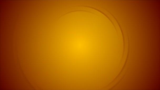 Video animace abstraktní oranžová spirála