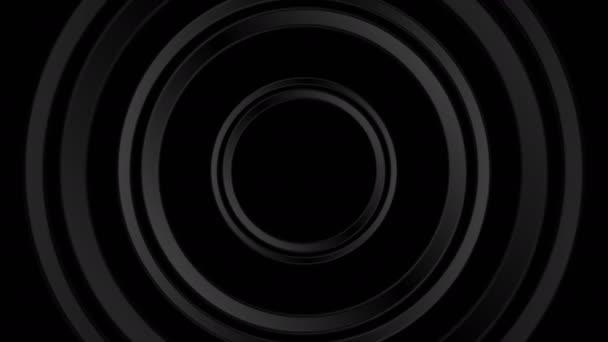 Video animace tmavé černé abstraktní kruhy