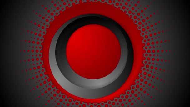 Dark red halftone circles video animation
