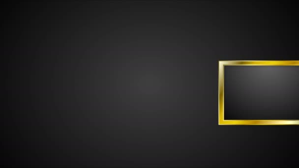 Blank golden frames abstract video animation