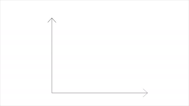 Growing graph with green arrow video animation