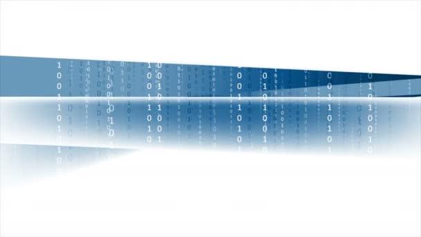 Binární systém kódu tech animace