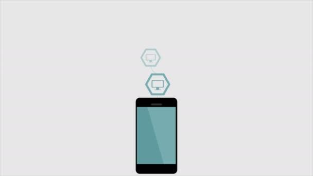 Připojení WiFi mobilní telefon video animace