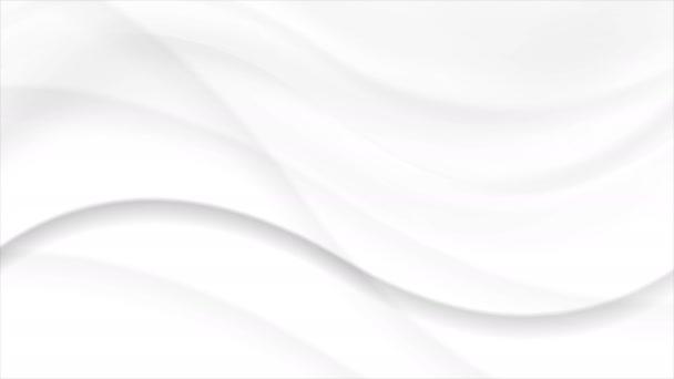 Bílé pozadí abstraktní tekoucí vlnitý pohyb