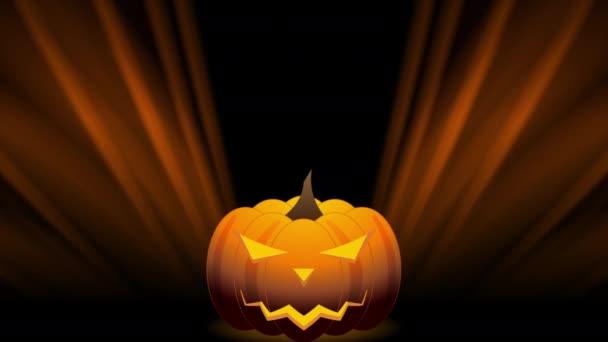 Orange Halloween-Kürbis und glatte Strahlen abstrakter Bewegungshintergrund