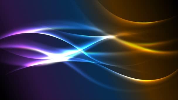 Barevné neonové zářící vlny abstraktní animace videa