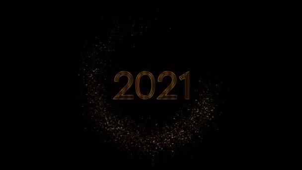 2021 Újév arany elvont csillogó mozgás háttér