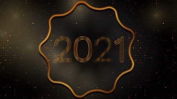 2021 Nový rok zlatý abstraktní jiskřivý pohyb pozadí