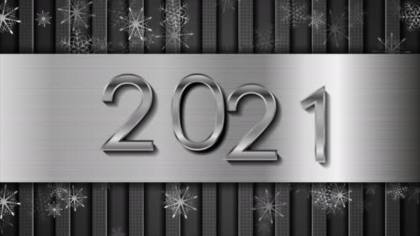 Metallic tech 2021 Újév elvont mozgás háttér