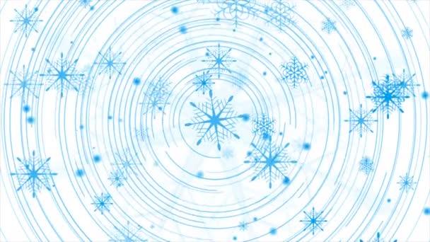 Kék téli karácsonyi tech elvont mozgás háttér