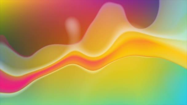 Színes neon áramló folyékony hullámok videó animáció