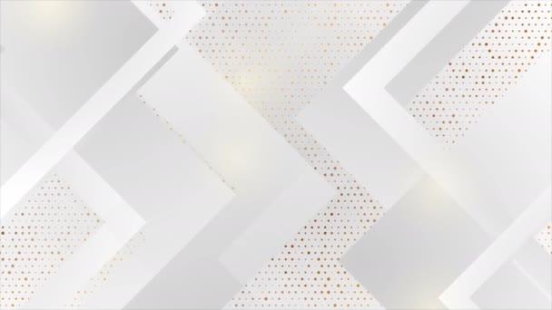 Šedá technika geometrický pohyb pozadí se zlatými tečkami
