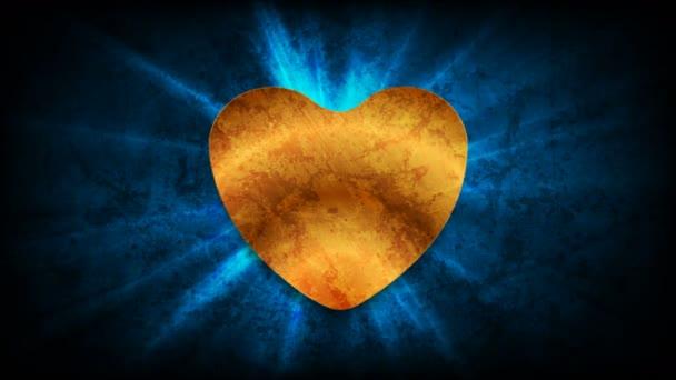 Grunge St Valentines Day mozgás háttér arany szív