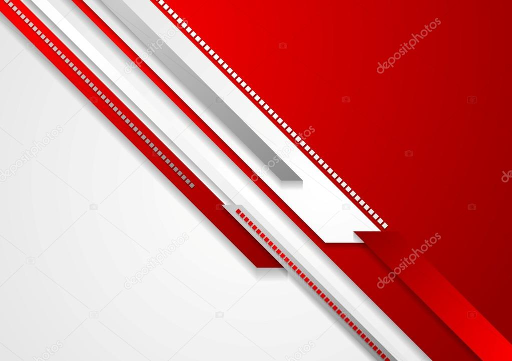 Red technology background