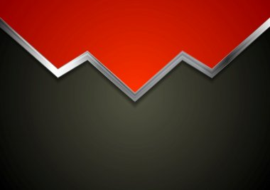 Tech background with metal arrow