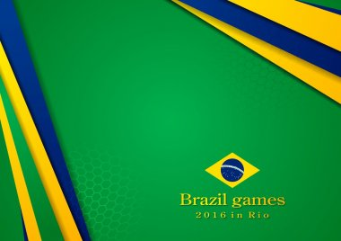 Background in Brazilian colors