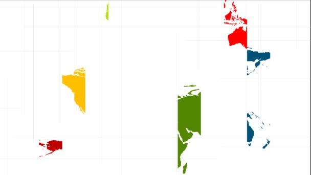 barevný svět mapa