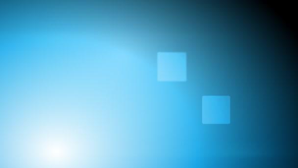 Abstrakt modrý lesklý tech animace