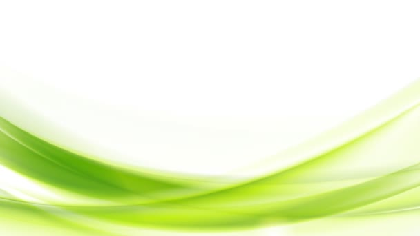Green moving flowing waves animation