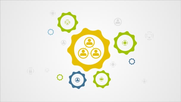 Moving gears mechanism and social icons