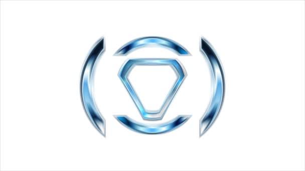 Modern bright tech logo animation