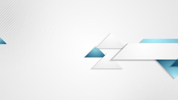 Abstraktní tech firemní modrá animace