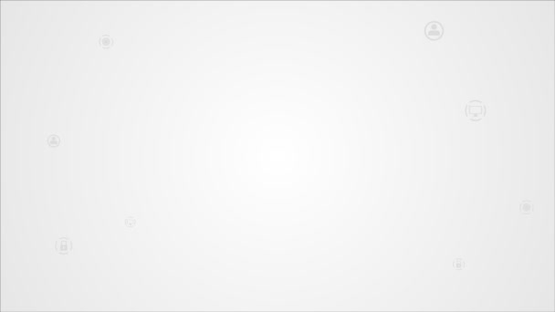 Bright communication animation with mobile phone