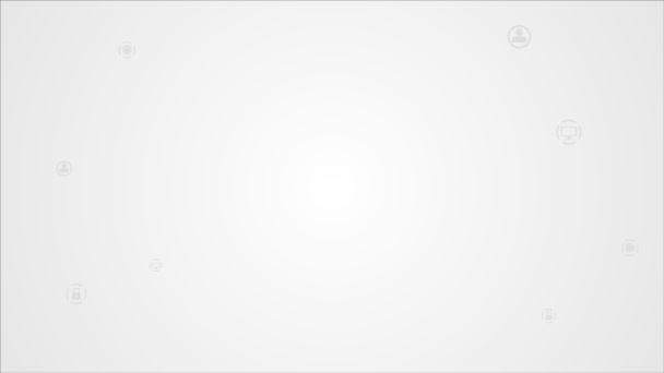 Jasná komunikace animace s mobilním telefonem
