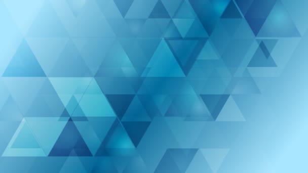 Světlé modré geometrické tech animace