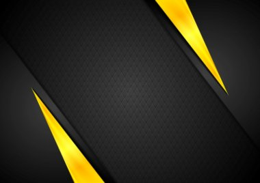 Dark contrast black yellow background