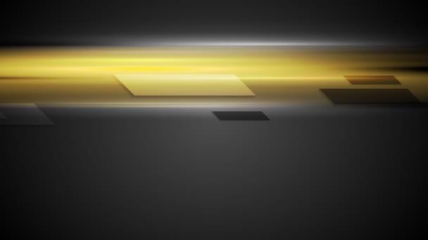 Geometrické tvary na zářící žluté pozadí