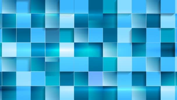 blue geometric tech video animation