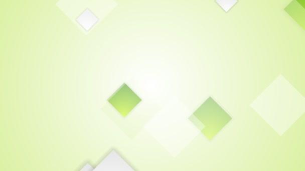 Světle zelené čtverečky video animace