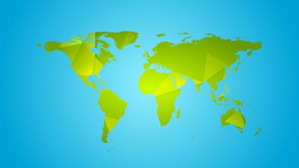 Polygonální zeleného mapa animace
