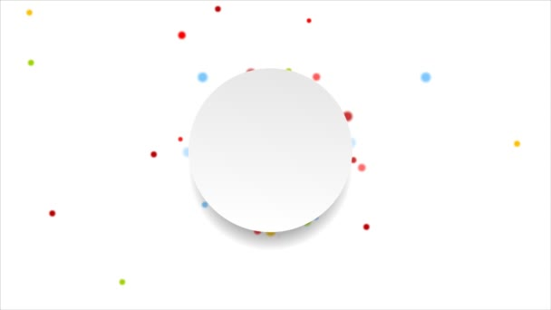 Bright circles and  video animation