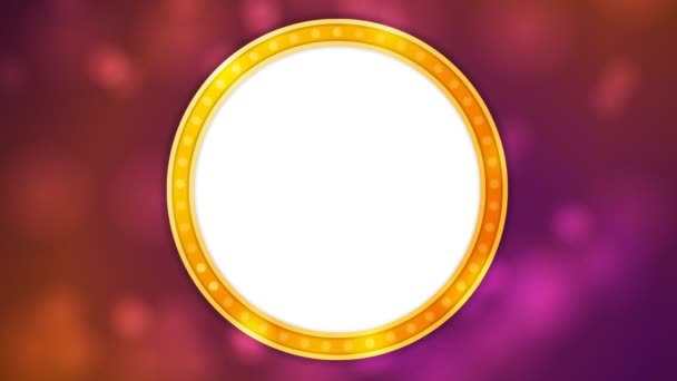 Retro lesklý lehký kruhu nápis