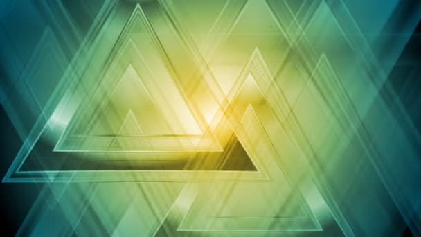 Bright abstract triangles video animation