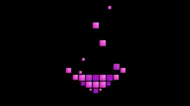 Geometriai lila szív szimbólum
