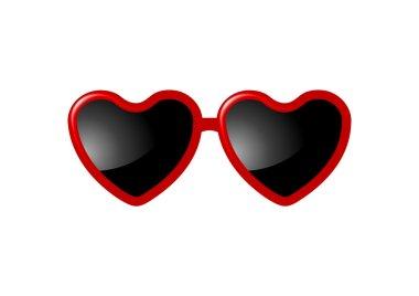 heart shaped Valentine glasses
