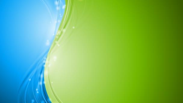 zelené a modré lesklé vlny