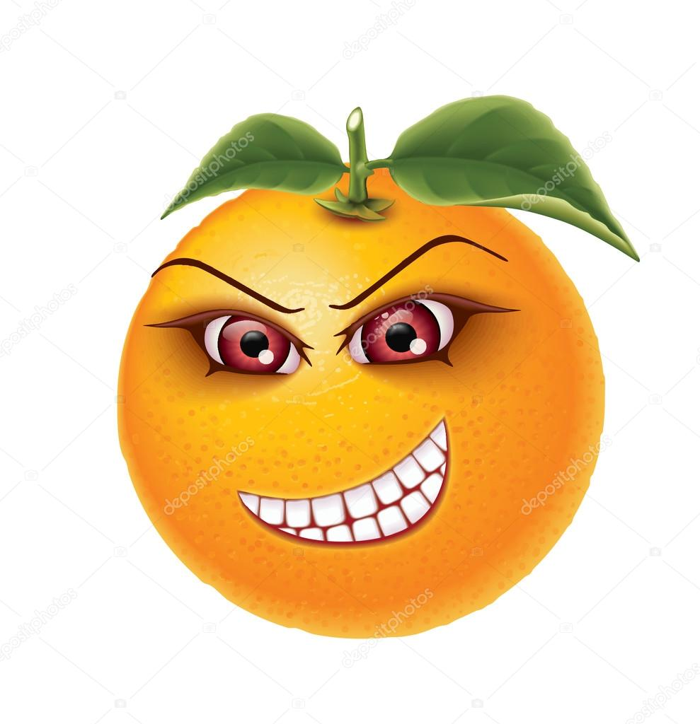 Orange eye teeth