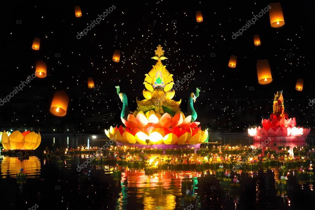 Thailands traditional Loy Krathong Festival