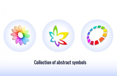 Stylized abstract icons.  Abstract symbols for your design. icon